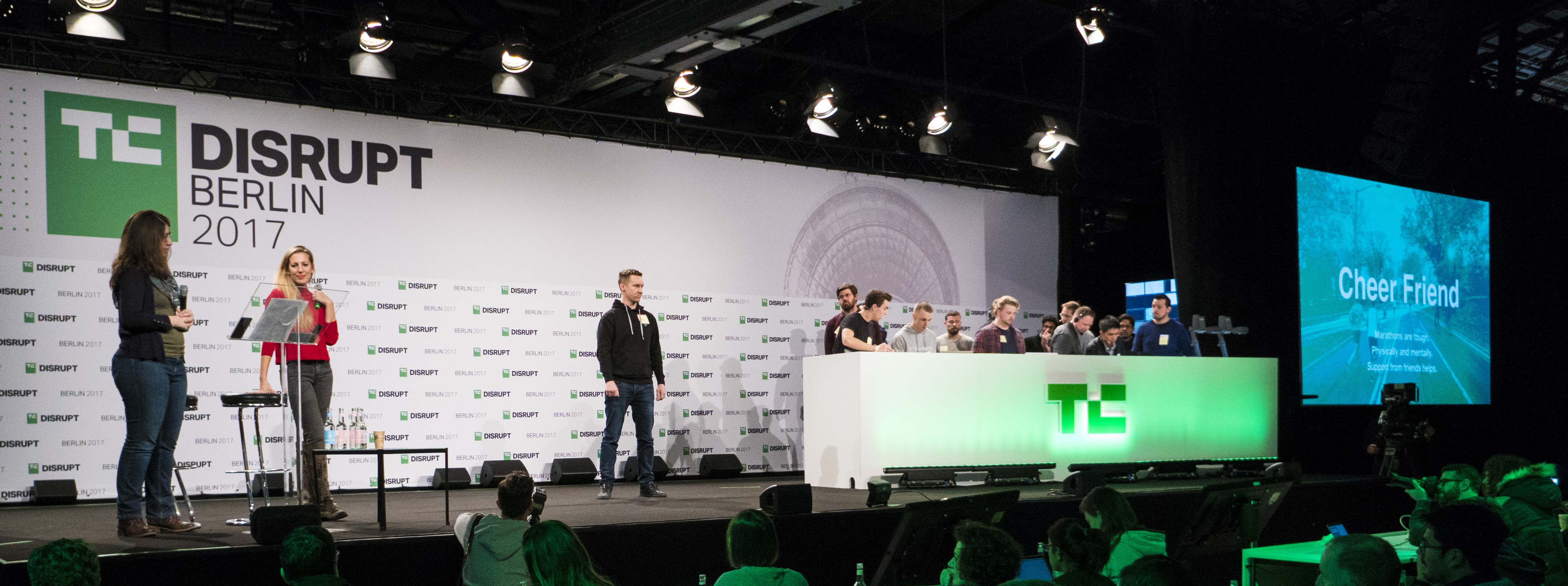 Tuomas on TechCrunch stage